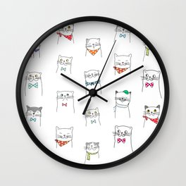 Lovely Cats | Pattern Art Wall Clock