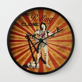 The Rolling Clone Wall Clock