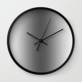 White to Black Vertical Bilinear Gradient Wall Clock