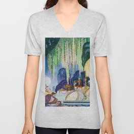 Felicia Looks At The Queen Of The Forest Unisex V-Neck