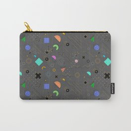 peppier-peint geometrical  Carry-All Pouch