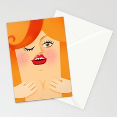 Lola Red Stationery Cards