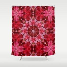Cranberrybush Viburnum mandala Shower Curtain