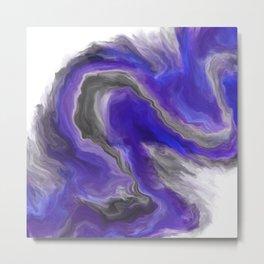 Purple Wave Digital Fluid Art Metal Print