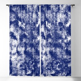 Blue White Abstract Blackout Curtain