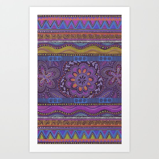 Spice Bloom Art Print