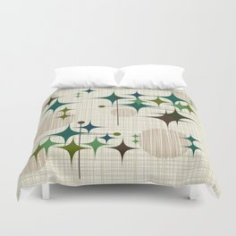 Mid Century Modern Starbursts and Globes 1a Duvet Cover
