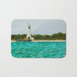 Egmont Key Lighthoues Painting Bath Mat
