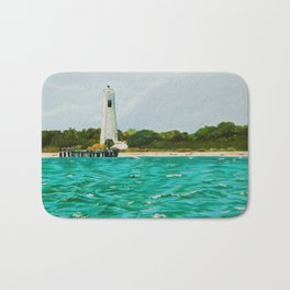 Egmont Key Lighthoues Painting Bath Mat