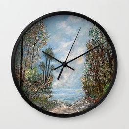 Almost at the Shore! Wall Clock