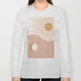 Yin Yang Blush - Sun & Moon Long Sleeve T-shirt