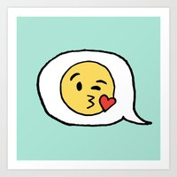 Emoji - Winky Face Art Print