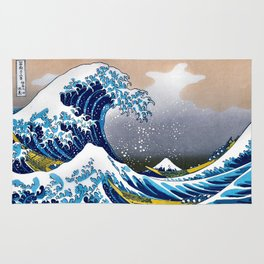 The Great Wave off Kanagawa Embossed by LarcenIII Rug