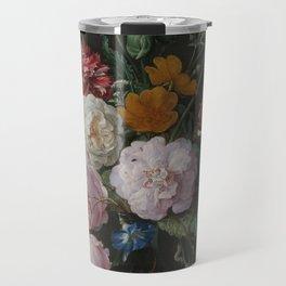 Still life with flowers in a glass vase, Jan Davidsz. de Heem, 1650 - 1683 Travel Mug