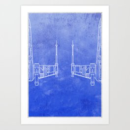 Spaceship - Fighter X Art Print