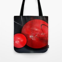 gym Tote Bags featuring Gym Balls by Digital-Art