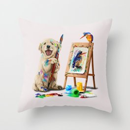 Im Artist Throw Pillow