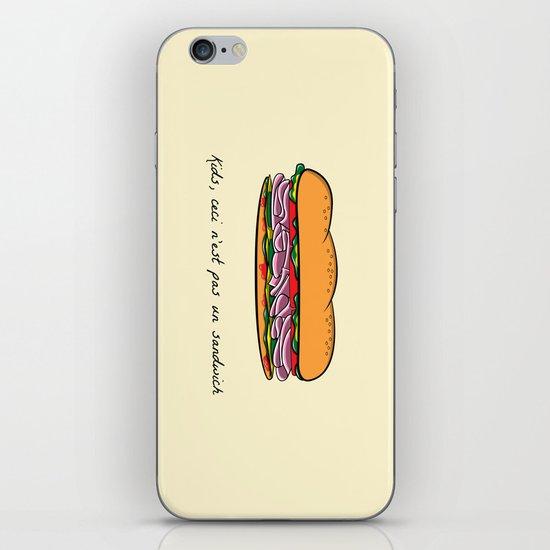 Ceci n'est pas un sandwich iPhone & iPod Skin
