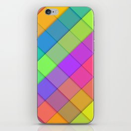 Abstract colourful block design iPhone Skin