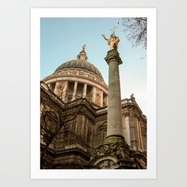 St. Paul's Cathedral in London Photo by Larry Simpson Art Print