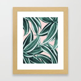 Dracaena Tropical Leaves Pattern #1 #tropical #decor #art #society6 Framed Art Print