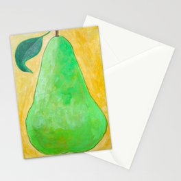 Green Pear Stationery Cards
