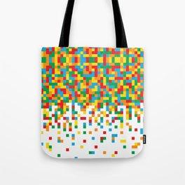 Pixel Chaos Tote Bag