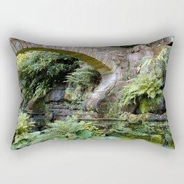 A Stone Arch Decorates the Garden Rectangular Pillow