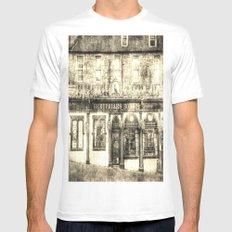 Greyfriars Bobby Pub Edinburgh Vintage MEDIUM White Mens Fitted Tee