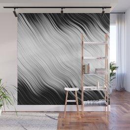 Stripes Wave Pattern 10 bw Wall Mural