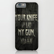 Your Knife My Back! iPhone 6s Slim Case
