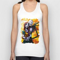 jack skellington Tank Tops featuring Jack Skellington With Sally Figurine by Andrian Kembara