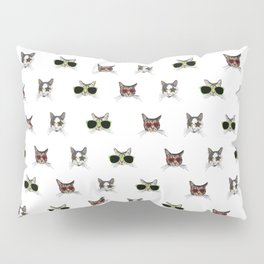 Cats Wearing Sunglasses Pattern Pillow Sham