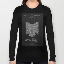 Antique Patent for Lace Textiles Long Sleeve T-shirt