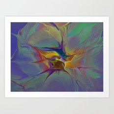 Abstract Explosion Art Print