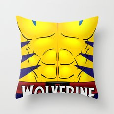 Wolverine X-Men Throw Pillow