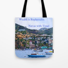 """""""Catalina Harbor""""/ """"Time"""" Tote Bag"""