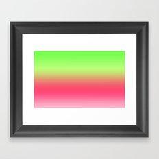 Watermelon Pink Green Gradient Framed Art Print