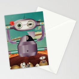 greetings from telencephalon Stationery Cards