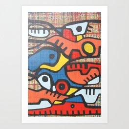 CAMINOS Y MONTAÑAS Art Print