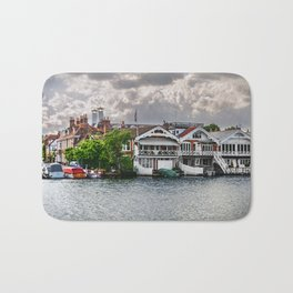 Boathouses At Henley on Thames Bath Mat