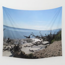 The Boney Trees on the Beach Wall Tapestry