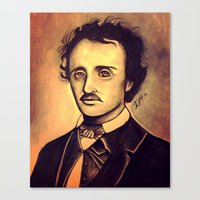 poe Canvas Prints featuring POE by Kimberly Faye