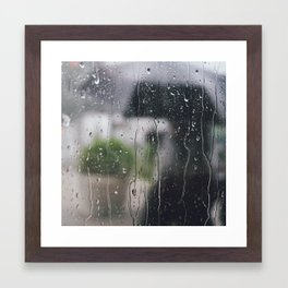 Under the rain Framed Art Print