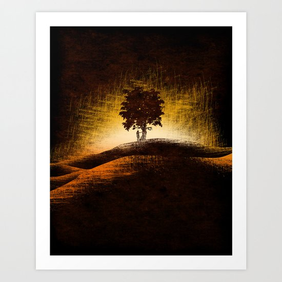 i love trees Art Print