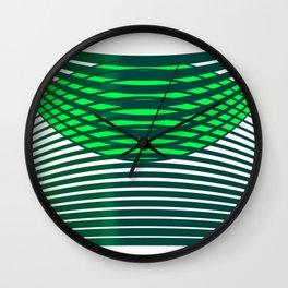 Geometric pattern green modern  Wall Clock