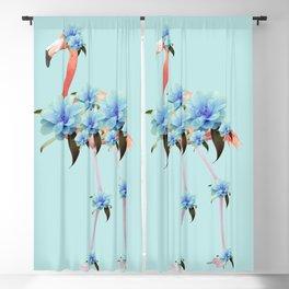 Flower Flamingo #1 #floral #decor #art #society6 Blackout Curtain