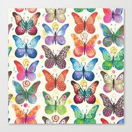 Colorful Butterflies Canvas Print