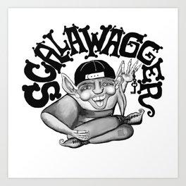 Scalawagger Art Print