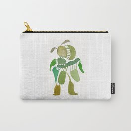 Green Abstract Figure Carry-All Pouch